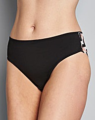 Black Three Pack Lace Brazilian Briefs