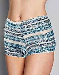 3 Pack Blue Print Lace Shorts