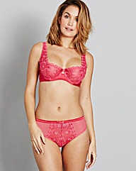 Gina Embroidered Hot Pink Balcony Bra