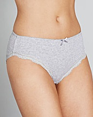 2 Pack Sophie Grey/Animal Midi Briefs