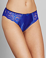 Satin & Lace Cobalt/Black Briefs