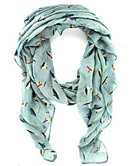 Printed Bird Scarf
