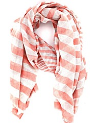 Lurex Striped Scarf