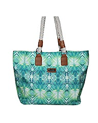Kangol tropical print shopper
