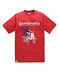 Lambretta Viper Red T-Shirt Regular