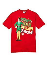 Elf Yellow Snow Graphic T-Shirt Reg