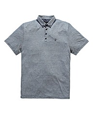 Black Label By Jacamo Cody Stripe Polo L