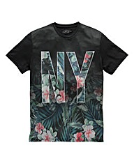 Label J NY Floral Fade T-Shirt Regular