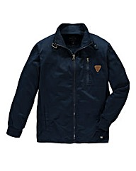Firetrap Logan Indigo Funnel Neck Jacket