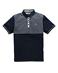 Black Label By Jacamo Joss Stripe Polo L
