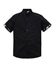Label J Hibiscus Trim Shirt Long