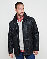 WILLIAMS & BROWN Leather Car Coat
