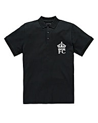French Connection Large Crown Black Polo