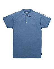 French Connection Blue Shoulder Polo