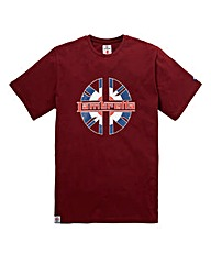 Lambretta Lucky Chip Burgundy T-Shirt Re