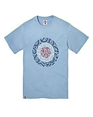 Lambretta Paisley Sky Target T-Shirt Lon