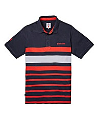 Lambretta Classic Stripe Navy Polo Long