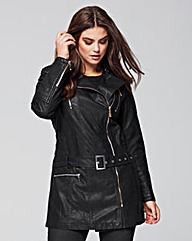 Lovedrobe Leather Look Jacket