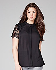 Grazia Lace Detail Blouse