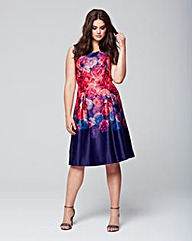 Wolf & Whistle Rose Ombre Prom Dress