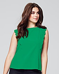 Wolf & Whistle Green Frill Detail Blouse