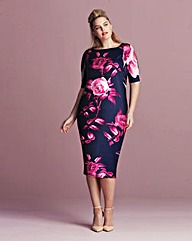 AX Paris Floral Scuba dress
