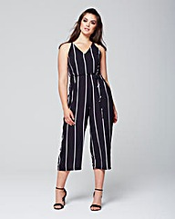 AX stripe cropped playsuit