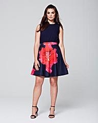 AX Paris Scuba Fit & Flare Dress