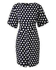 Closet Split Front Spot Dress