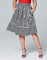 Closet Striped Prom Skirt