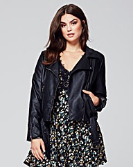Alice & You PU Belted Biker Jacket