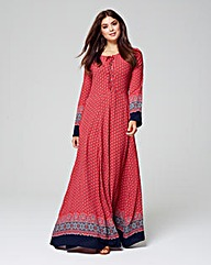 ALICE & YOU BORDER PRINT MAXI DRESS