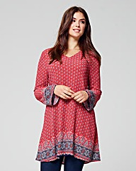 ALICE & YOU BORDER PRINT TUNIC DRESS