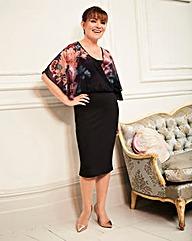 Lorraine Kelly Floral Blouson Wrap Dress
