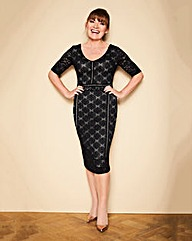 Lorraine Kelly Lace Detail Midi Dress