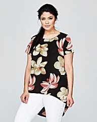 Alice & You Floral Print Split Back Top