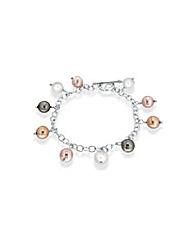 Sterling Silver coloured Pearl Bracelet