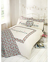Peace and LoveHeart  Cushion