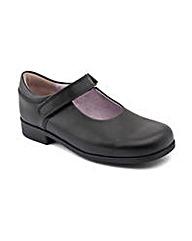 Start-rite Samba Black Leather Fit H