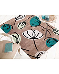 Fifties Floral Contempory Style Rug