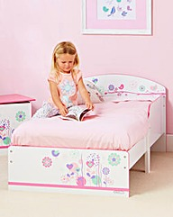 Flowers and Butterflies Toddler Bed