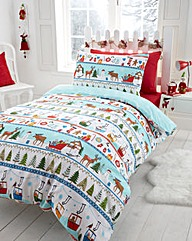 White Christmas Duvet Cover Set
