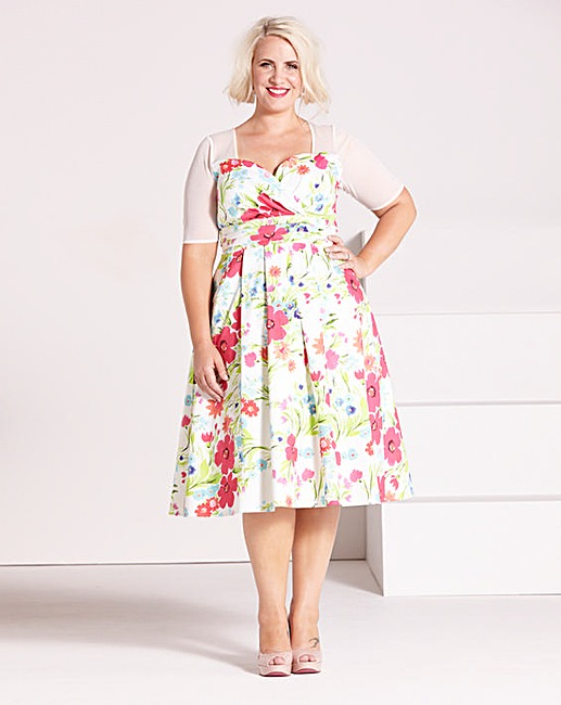 Claire Richards Print Prom Dress | Simply Be