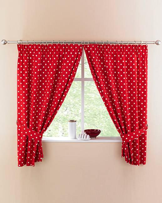Polka Dot Kitchen Curtains Simply Be