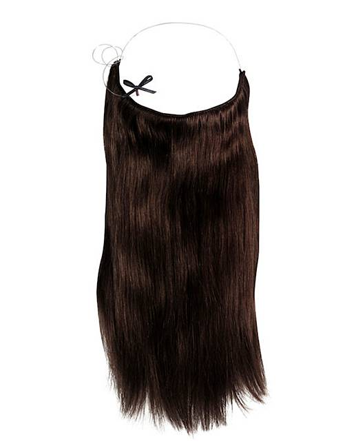 Halo 20in hair extensions dark brown simply be halo 20 inch human hair extensions dark brown pmusecretfo Choice Image