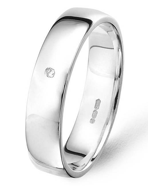 argentium silver 1 diamond wedding band jacamo