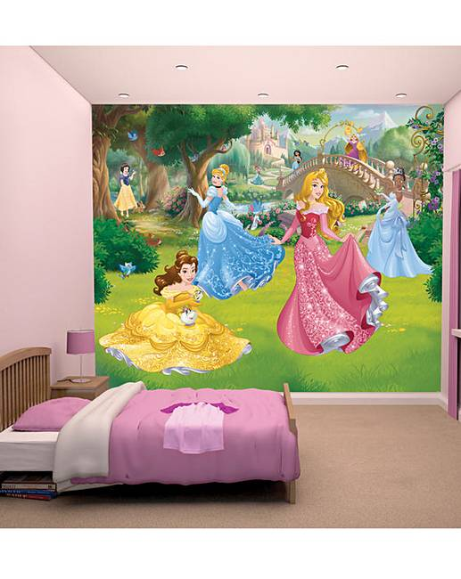 Disney princess wallpaper mural j d williams for Disney princess wallpaper mural