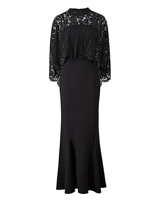 Joanna Hope Lace Cape Maxi Dress J D Williams