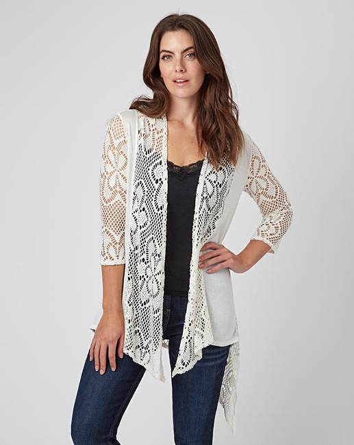 Joe Browns Longline Crochet Cardigan | Simply Be
