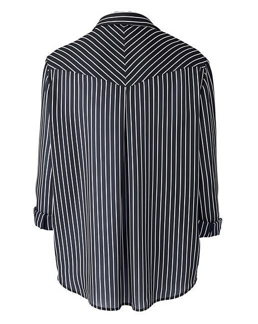Black White Long Sleeve Stripe Shirt J D Williams